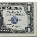 1957's* $1.00 Silver Certificates Crisp Uncirculated - Star Note