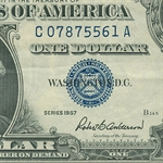 1957's $1.00 Silver Certificates Almost Uncirculated
