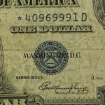 1935's* $1.00 Silver Certificates Very Good - Very Fine Star Note