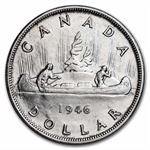 Canada 1946 Dollar Silver Almost Uncirculated