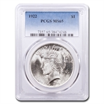 1922 Peace Dollar MS-65 PCGS