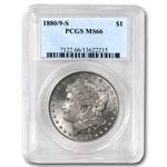 1880/9-S Morgan Dollar - MS-66 PCGS VAM-11 0/9 Overdate Hot-50