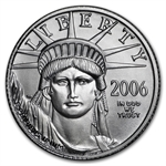 2006-W 1/10 oz Burnished Platinum American Eagle (w/Box & CoA)