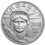 2008-W 1/10 oz Burnished Platinum American Eagle (w/Box & CoA)