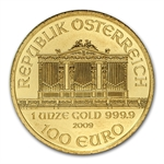 2009 1 oz Gold Austrian Philharmonic - Brilliant Uncirculated