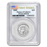 2005 1/4 oz Platinum American Eagle MS-70 PCGS (FS) Registry Set