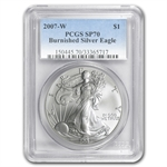 2007-W (Burnished) Silver American Eagle MS-70 PCGS