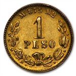 Mexico 1904 Mo Peso Gold Coin - AU KM#410.5