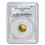 1990-P 1/10 oz Proof Gold American Eagle PR-70 PCGS
