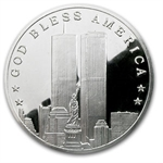 4 oz Silver Rnd - September 11, 2001 World Trade Center .999 Fine