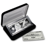 4 oz Silver Bar - Ben Franklin $100 (Replica) - .999 Fine