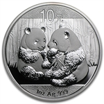 2009 1 oz Silver Chinese Panda - (In Capsule)