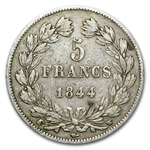 France 5 Francs Silver Louis Philippe I (EF) Random Dates