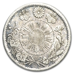 Japan Meiji (Year 4/1871) Silver 5 Sen VF+