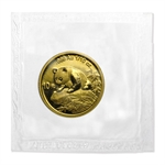 1999 (1/10 oz) Gold Chinese Pandas (Large Date) - (Sealed)