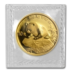 1999 (1/10 oz) Gold Chinese Pandas (Small Date) - (Sealed)