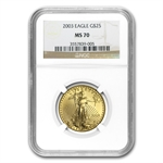 2003 1/2 oz Gold American Eagle MS-70 NGC