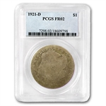 1921-D Morgan Dollar - Fair-2 PCGS - Low Ball Registry Coin