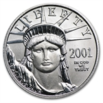 2001 1/4 oz Platinum American Eagle - Brilliant Uncirculated