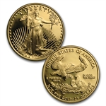 2000-W 4-Coin Proof Gold American Eagle Set (W/Box & Coa)