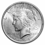 1922-1925 Peace Silver Dollars - MS-63 PCGS Rattler Holders