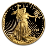 1998-W 1/10 oz Proof Gold American Eagle (w/Box & CoA)