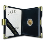 2000-W 1/10 oz Proof Gold American Eagle (w/Box & CoA)