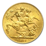 Canada 1917-C Gold Sovereign George V MS-62 NGC/PCGS