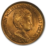 Netherlands 1911-1933 10 Gulden Gold NGC MS-64