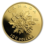 1986 Canada 1/2 oz Gold $100 Proof - International Year of Peace