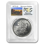 1879-O Brilliant Uncirculated PCGS Stage Coach Silver Dollars