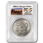 1880-O Brilliant Uncirculated PCGS Stage Coach Silver Dollars