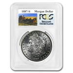 1887-S Brilliant Uncirculated PCGS Stage Coach Silver Dollars