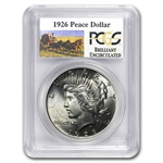 1926 Brilliant Uncirculated PCGS Stage Coach Silver Dollars