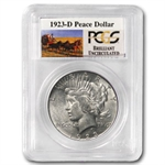 1923-D Brilliant Uncirculated PCGS Stage Coach Silver Dollars