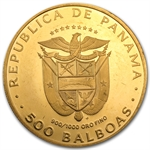 Panama 1975-77 500 Balboa Gold Proof 1.2067 oz. (Handled)