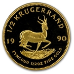 1990 1/2 oz Proof Gold South African Krugerrand
