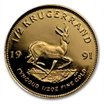 1991 1/2 oz Proof Gold South African Krugerrand