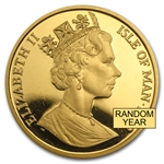 Isle of Man 1 oz Gold Crown - Cats (Proof or Uncirculated)