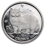 1989 1/25 oz Isle of Man Platinum Persian Cat