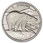 1999 1/10 oz Canadian Platinum Polar Bear