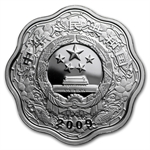 2009 Year of the Ox - 1 oz Silver - Flower Coins (W/Box & Coa)