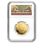 2008-W 1/2 oz Proof Gold Louisa Adams PF-70 NGC UCAM