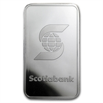 1 oz Scotiabank Platinum Bar (In Assay) .999+ Fine