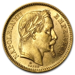 France (1852-1870) Gold 20 Francs of Napoleon III BU