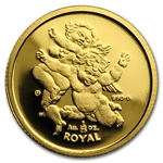 Gibraltar 1/25 Royal Gold Unc Cherubs Random Dates