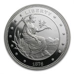 1.5 oz Silver Rnd - $100 Silver Union George T. Morgan .999 Fine