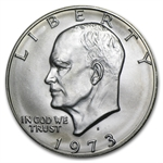 1973-S Eisenhower Dollar BU 40% Silver MS-60 - MS-65