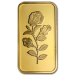 1/2 oz .999 Fine Gold PAMP SUISSE Rose Bar