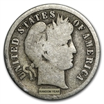 90% Silver Barber Dimes - $100 Face-Value Bag